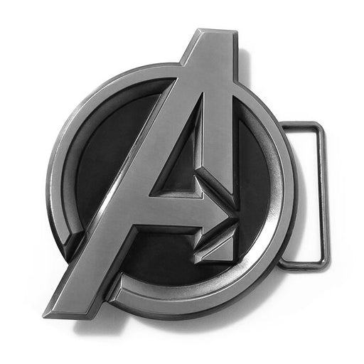 Avengers Belt Buckle Grey Superhero Image Front