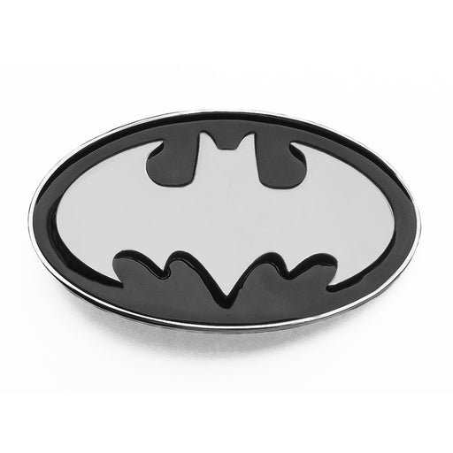 Batman Belt Buckle Black With Silver Logo Front
