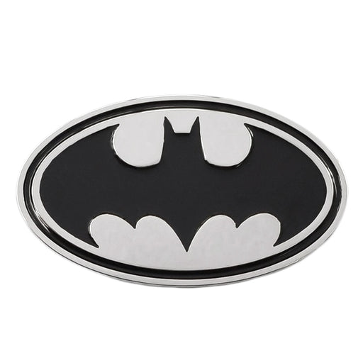 Batman Belt Buckle Silver Black Image Front