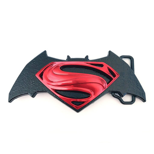 Superhero Batman Vs Superman Belt Buckle Image Front