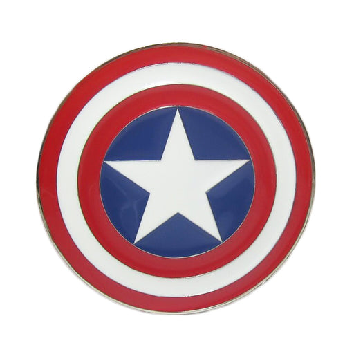 Captain America Belt Buckle Red Blue White Superhero Image Front
