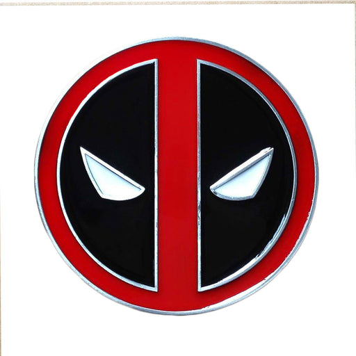 Deadpool Belt Buckle Red Black Superhero Image Front