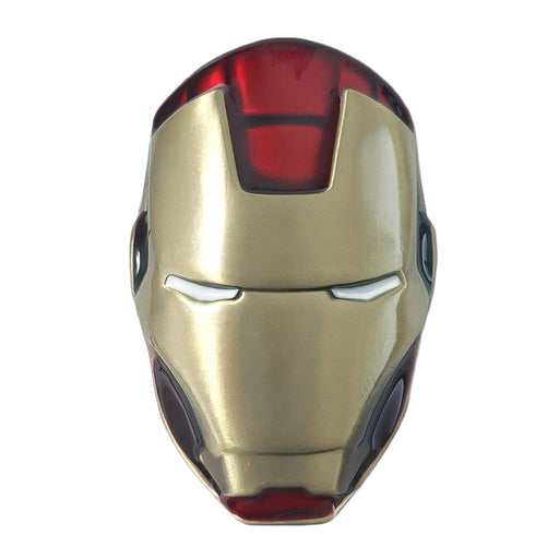 Iron Man Belt Buckle Green Gold Head Front Image