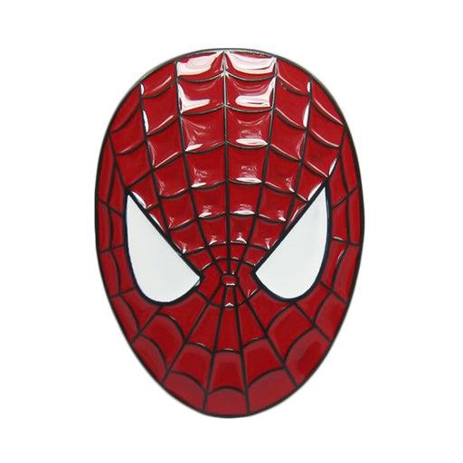 Spider-Man Belt Buckle Red Superhero Image Front
