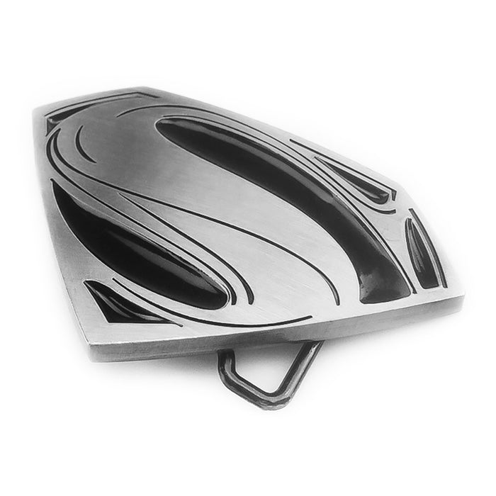 Belt Buckle - Superhero Superman (Pewter Grey & Black)