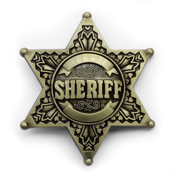 Sheriff Badge Belt Buckle Front View