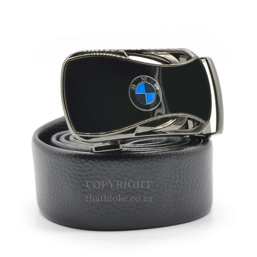 BMW Belt Buckle Car Logo Gunmetal Black Image Side View