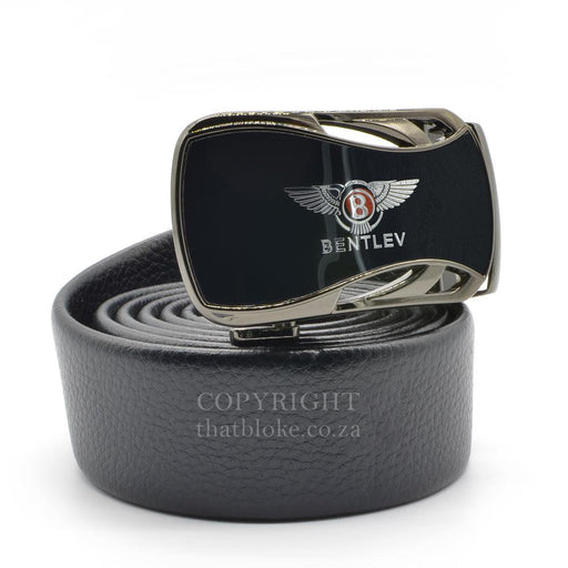 Bentley Belt Buckle Car Logo Gunmetal Black Image Side View