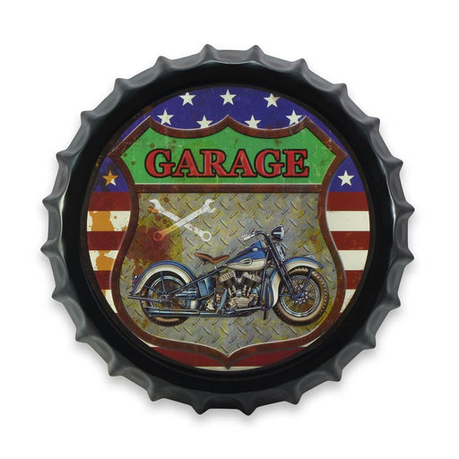 Bottle Cap Wall Sign - American Garage Motorcycle | That Bloke