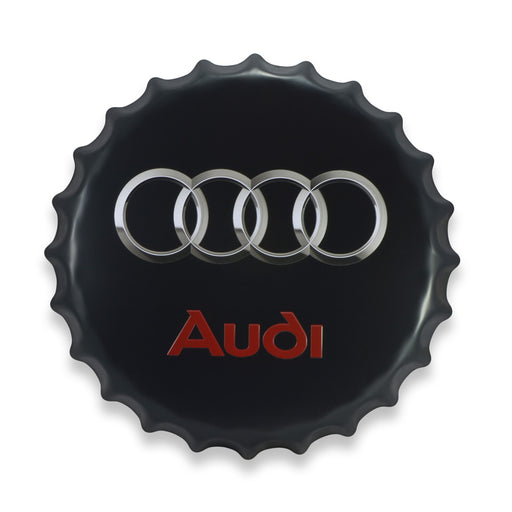 Bottle Cap Wall Sign - Audi Logo | That Bloke