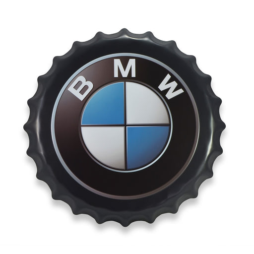 Bottle Cap Wall Sign - BMW Logo | That Bloke