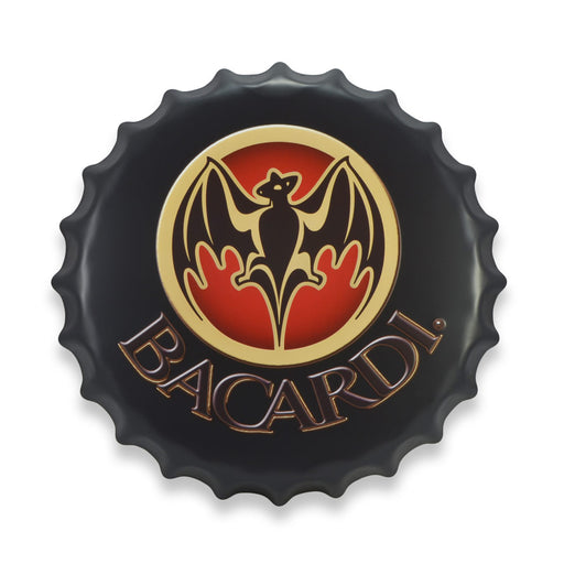 Bottle Cap Wall Sign - Bacardi Logo | That Bloke