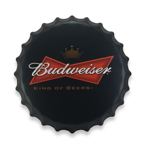 Bottle Cap Wall Sign - Beer Budweiser Logo