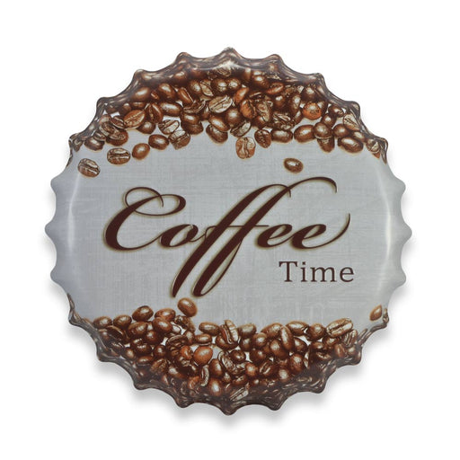 Bottle Cap Wall Sign - Coffee Time | That Bloke