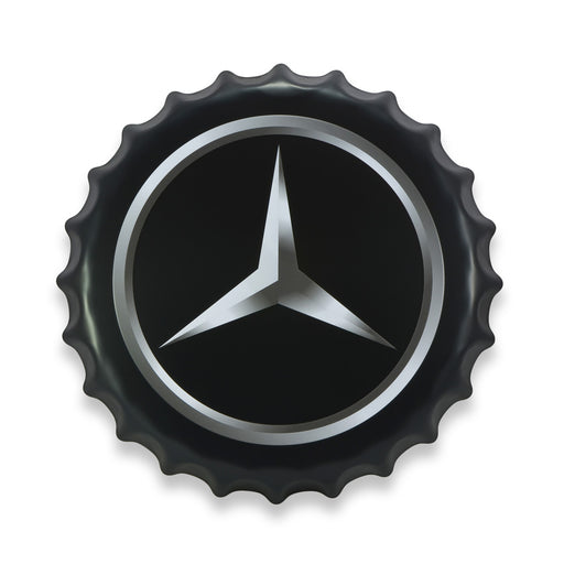 Bottle Cap Wall Sign - Car Logo Mercedes-Benz
