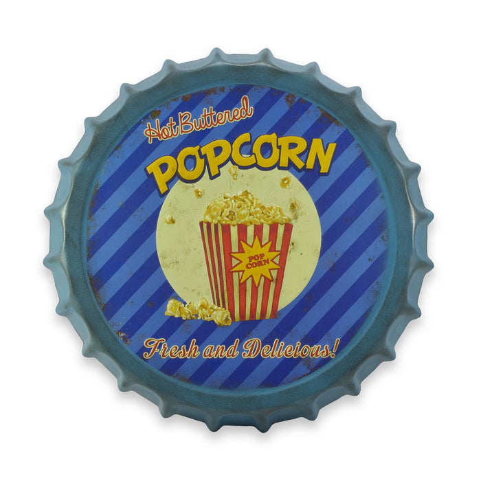Bottle Cap Wall Sign - Hot Buttered Popcorn | That Bloke