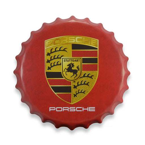 Bottle Cap Wall Sign - Porsche Logo | That Bloke