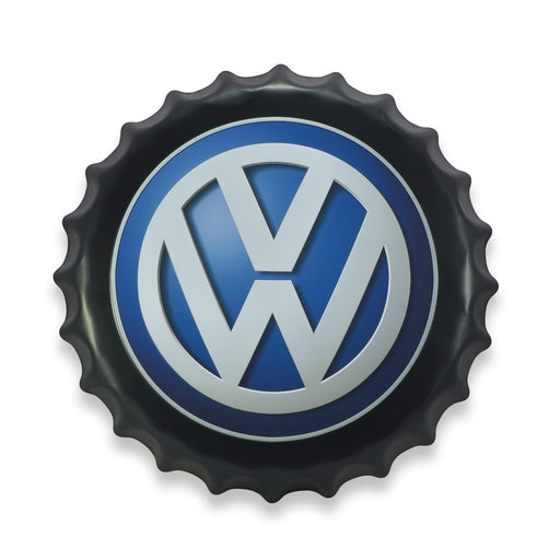 Bottle Cap Wall Sign - Volkswagen Logo | That Bloke