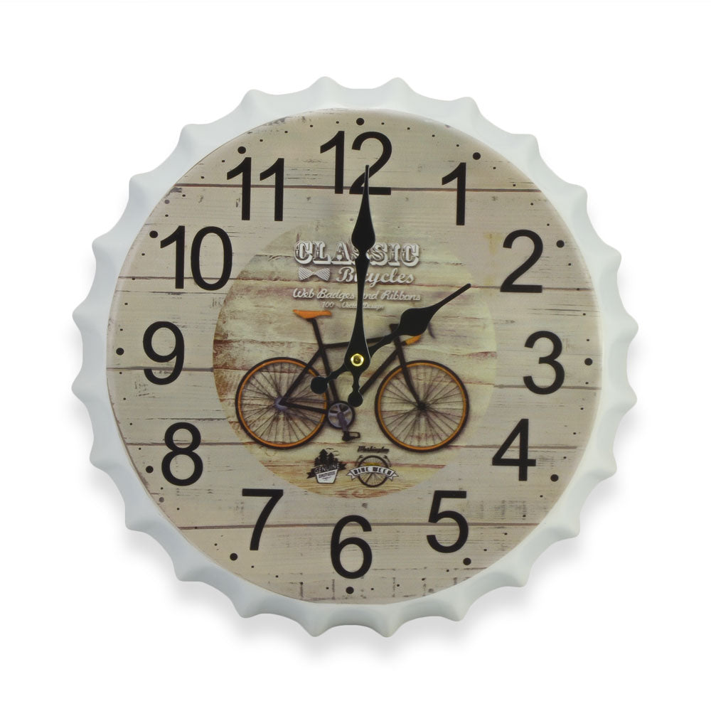 Bottle Cap Wall Clock - Classic Bicycle | That Bloke