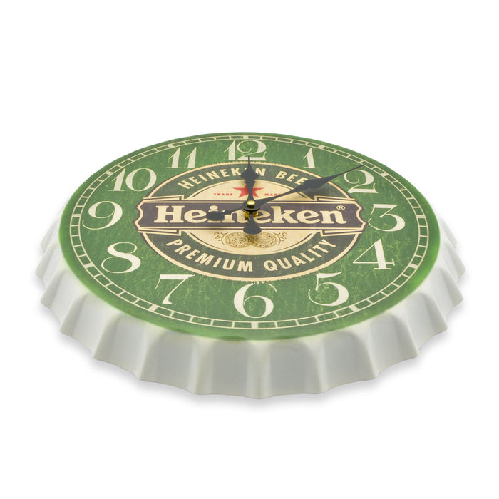 Bottle Cap Wall Clock - Beer (Green & White)