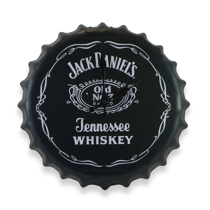 Bottle Cap Wall Clock - Jack Daniels Whiskey | That Bloke