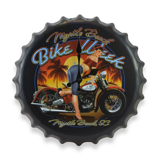 Bottle Cap Wall Clock - Myrtle Beach Bike Week | That Bloke