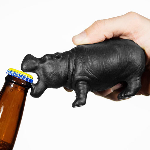 South African Hippo Bottle Opener Demonstration Image