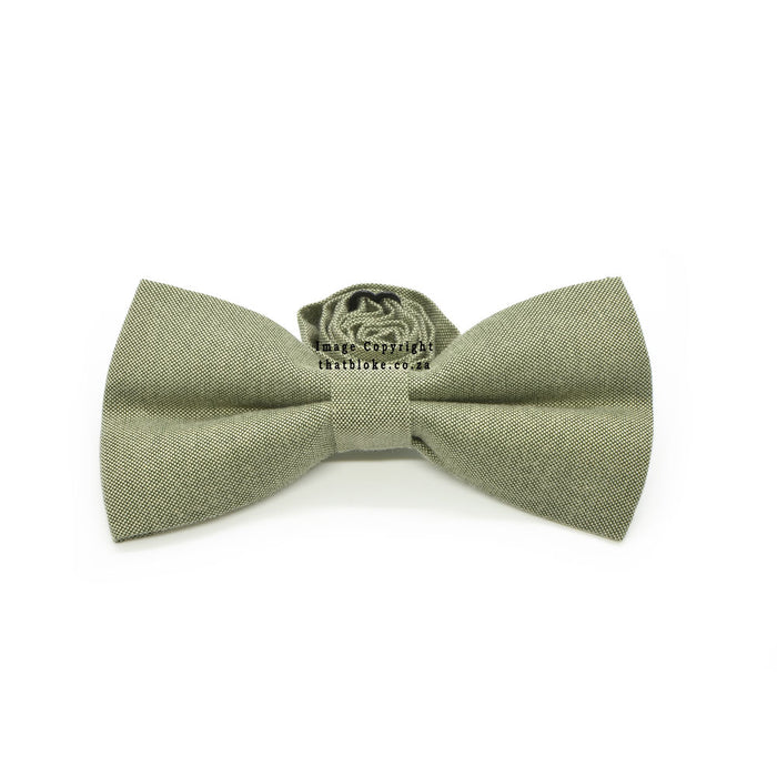 Khaki Green Bow Tie Front View