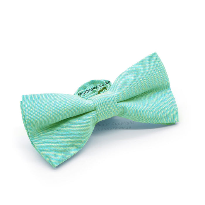Light Mint Green Bow Tie Front Side View