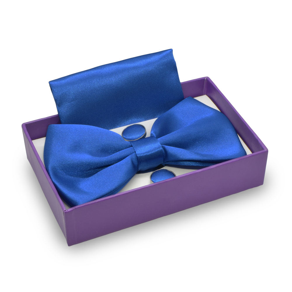 Bow Tie, Pocket Square & Cufflink Set (Persian Blue) | That Bloke