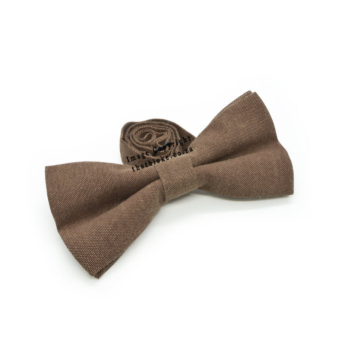 Walnut Brown Bow Tie Side View
