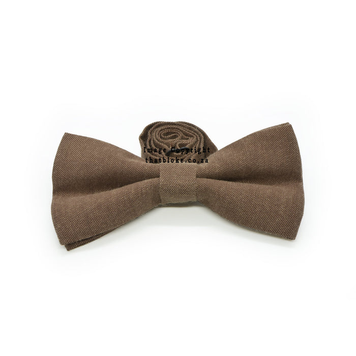 Walnut Brown Bow Tie Front View