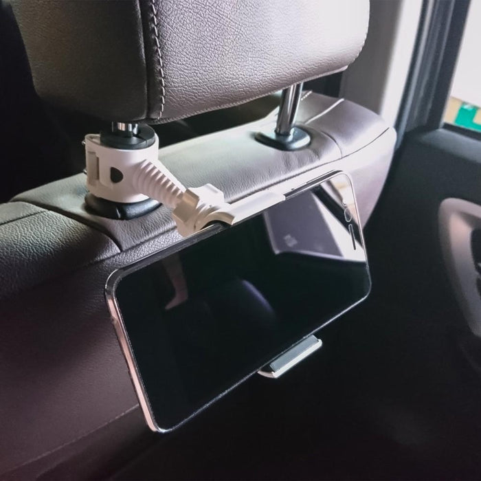 Cellphone Car Headrest Mount - White