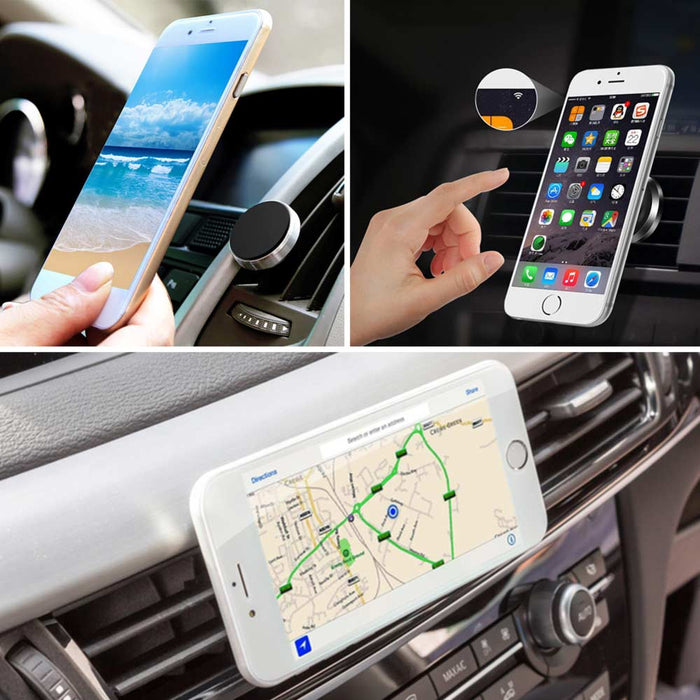 Cellphone Magnetic Mount For Car Air Vent - Charcoal