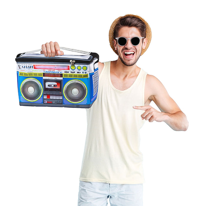 Music Boombox Cooler Bag Image Display Holding In Hand