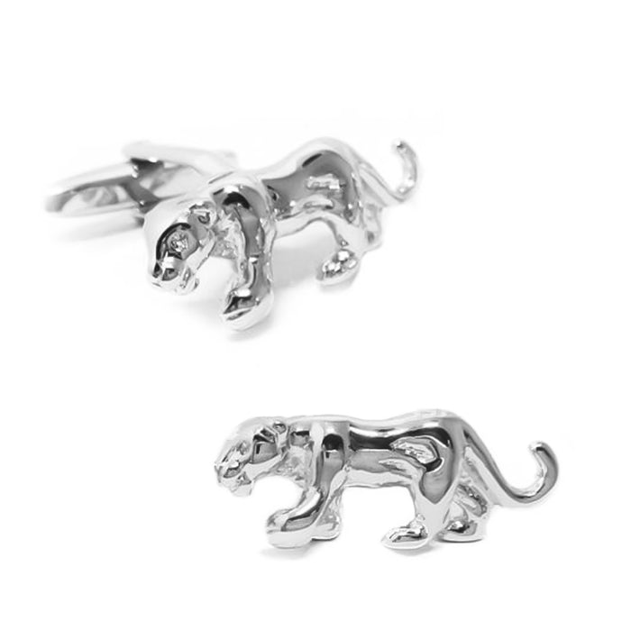 Jaguar Tiger Cufflinks South Africa Silver Image Pair