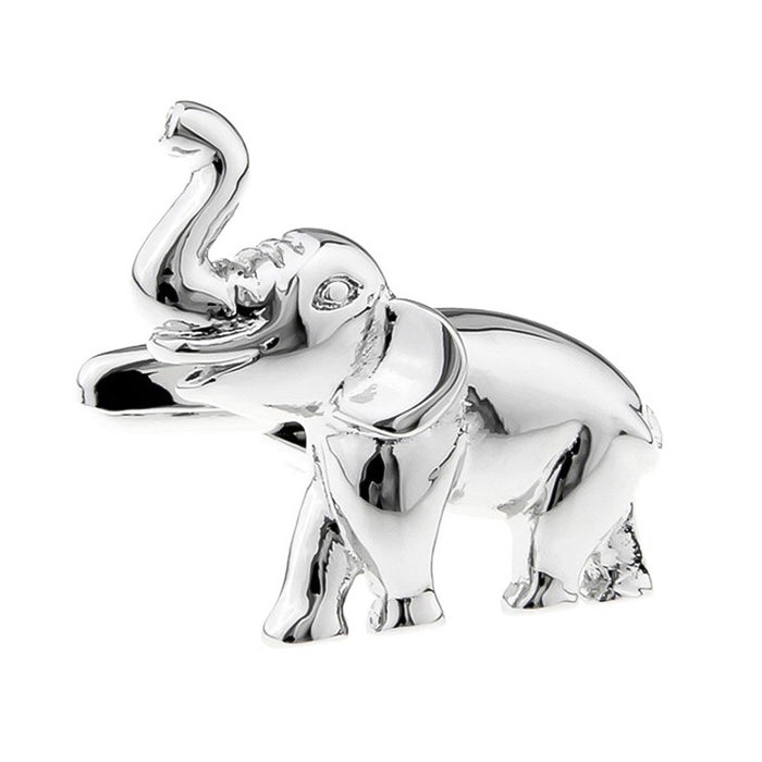Elephant Cufflinks Silver South Africa Image Front