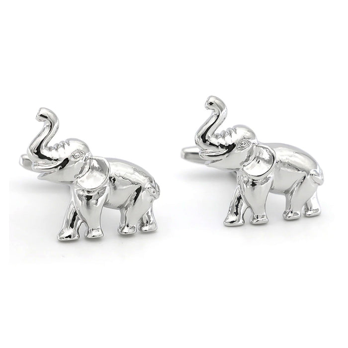 Elephant Cufflinks Silver South Africa Image Pair