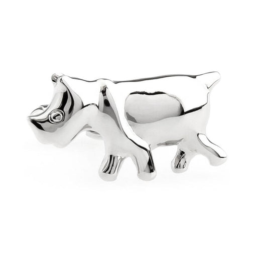 Rhino Cufflinks Silver South Africa Image Front