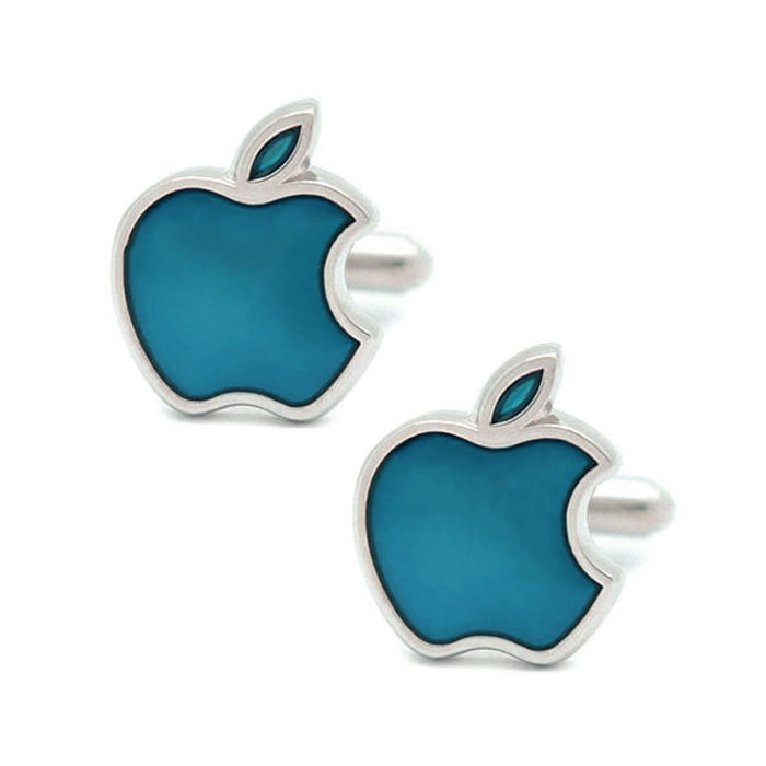 Apple Computers Cufflinks Silver Image Pair