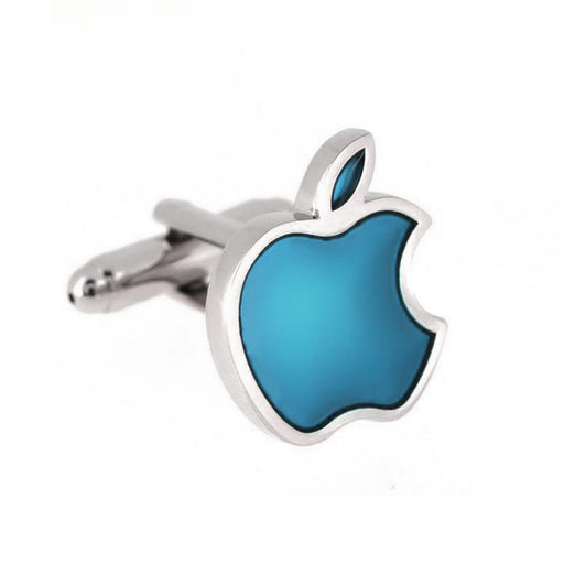 Apple Computers Cufflinks Silver Image Front