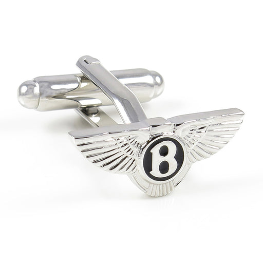 Bentley Cufflinks Car Logo Silver Image Front