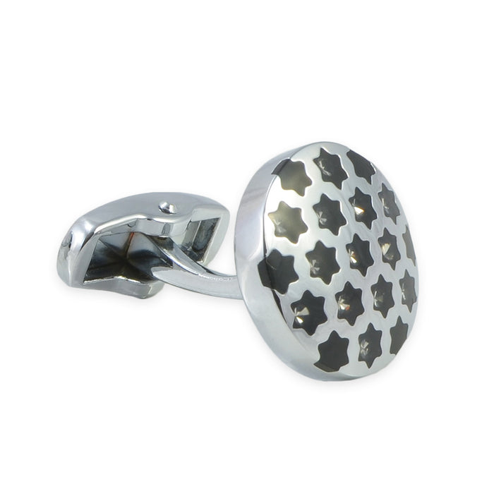 Cufflinks - Black Stars with Jewels