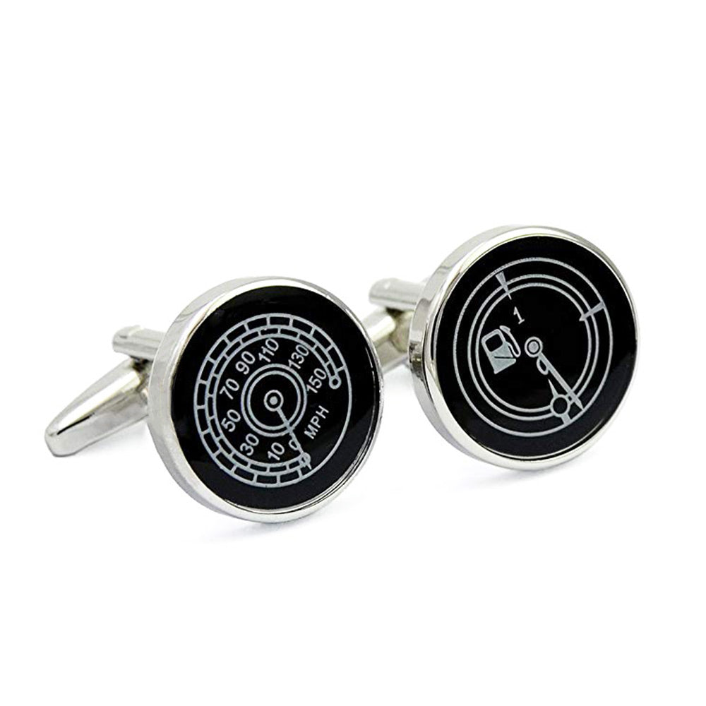 Cufflinks - Car Fuel Gauge & Speedometer