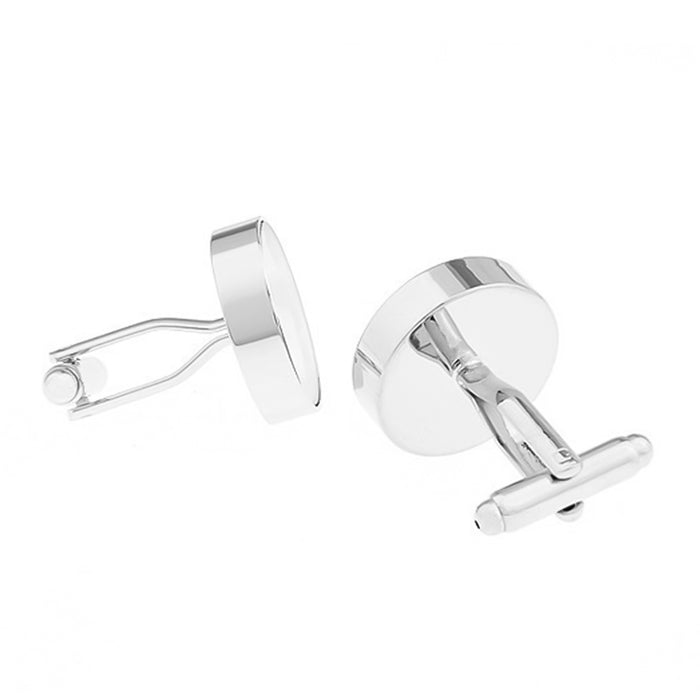 Casino Roulette Wheel Cufflinks for Gambling Silver Back