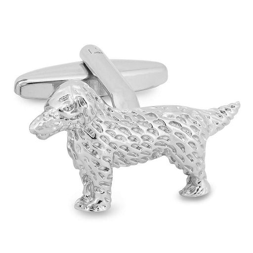 Dog Cufflinks Silver Image Front