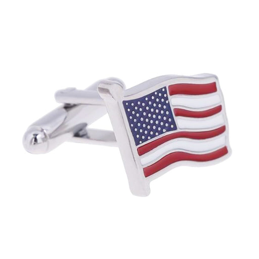 United States Of America Cufflinks Silver Front