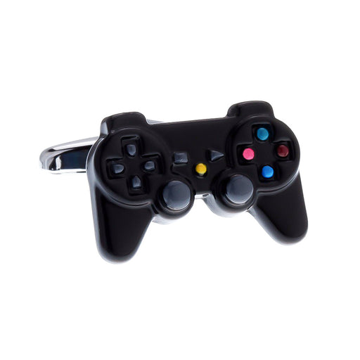 Gamepad Game Controller Cufflinks Black Image Front