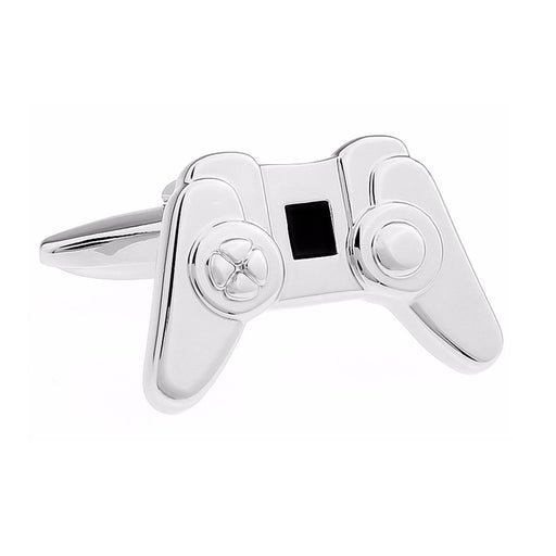 Game Controller Cufflinks Silver Image Front