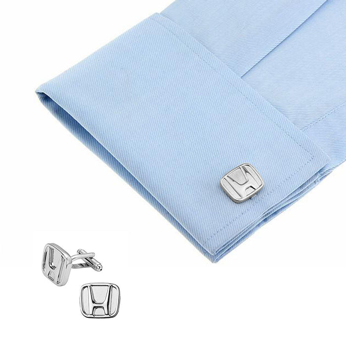 Honda Cuffliks Car Logo Silver On Shirt Sleeve